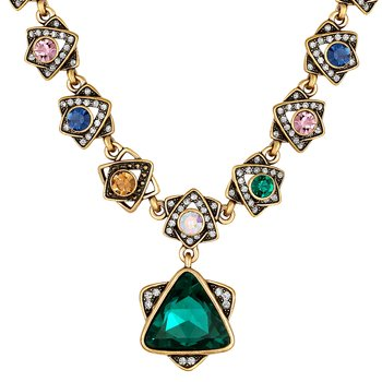 Party wear gold plated Multi colour opera style Necklace for women