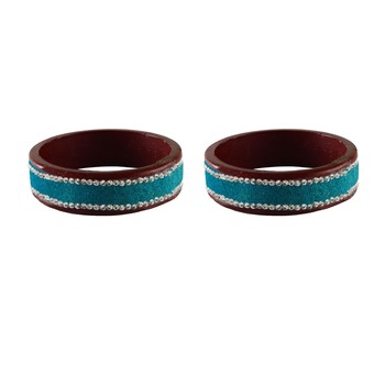 Firozi Stone Stud Lac Bangle For Women