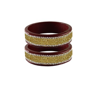 Golden Stone Stud Lac Bangle For Women