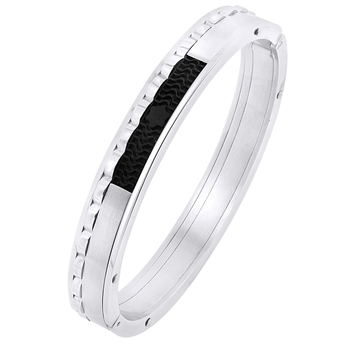 Stylish German Luxury Designer Black Solid 316l Surgical Stainless Steel Openable Stylish Boys Men