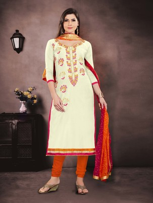 White Embroidered Chanderi Salwar