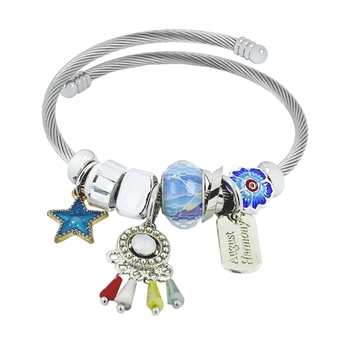 Chams Pandora Dream Catcher Star Blue Adjustable Bracelet for Women Girls