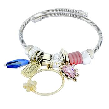Chams Pandora Flower Star Pink Blue Adjustable Bracelet for Women Girls