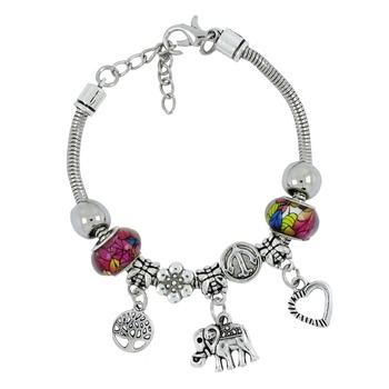 Chams Pandora Tree of Life Heart Anchor Adjustable Bracelet for Women Girls