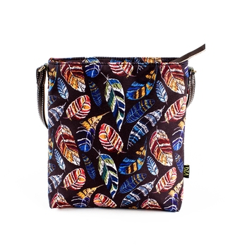Multicolored Sling/Shoulder Bag - Colored Feathers