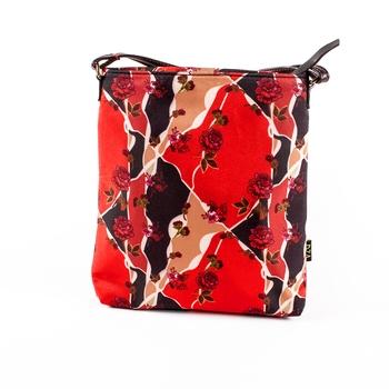 Red Sling Bag - Floral Tiles