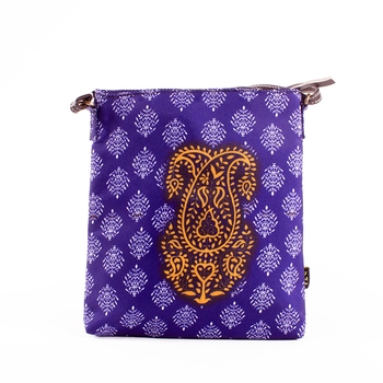 Blue Sling Bag - Indian Paisely