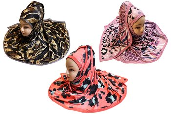 Justkartit Organic Lycra Stretchable Outdoor Wear Printed Hijab Scarf Dupatta For Women (Pack Of 3)