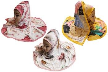 Justkartit Women's Festive Wear Organic Lycra Stretchable Printed Hijab Scarf Dupatta (Pack Of 3)