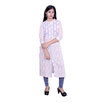 Multicolor embroidered cotton embroidered-kurtis