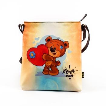 Ivory Sling Bag - Teddy's Heart