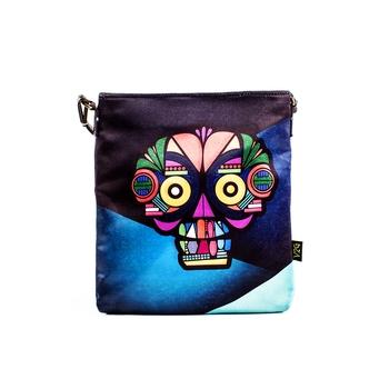 Blue Sling Bag - Techy Skull
