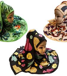 Justkartit Women's Organic Lycra Stretchable Printed Hijab Scarf Dupatta (Pack Of 3)