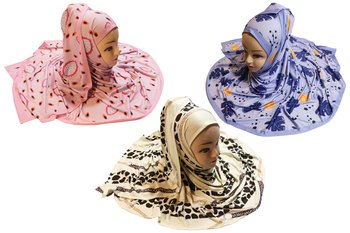 Justkartit Women's Daily Wear Organic Lycra Stretchable Printed Hijab Scarf Dupatta (Pack Of 3)