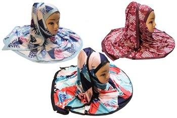 Justkartit Women's Organic Jersey Stretchable Printed Hijab Scarf Dupatta (Pack Of 3)