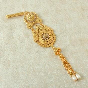 Lalso Designer LCT Gold Plated Kundan Single Juda Kamarband Waistbelt Hip Jewelry Wedding Festival - LSJ06_LCT