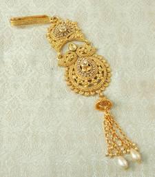 Lalso Designer LCT Gold Plated Kundan Single Juda Kamarband Waistbelt Hip Jewelry Wedding Festival - LSJ08_LCT
