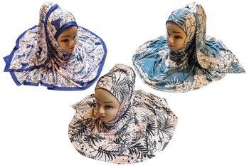 Justkartit Women's Organic Jersey Stretchable Material Occasion Printed Hijab Scarf Dupatta (Pack Of 3)