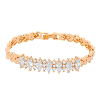 Pink cubic zirconia bracelets