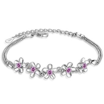 Pink crystal bracelets