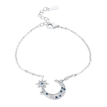 Blue crystal bracelets