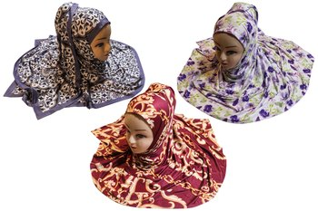 Justkartit Women's Organic Jersey Stretchable Material Printed Hijab Scarf Dupatta (Pack Of 3)