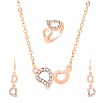 Gold crystal jewellery-combo