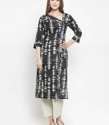 Indibelle Black woven cotton kurtas-and-kurtis