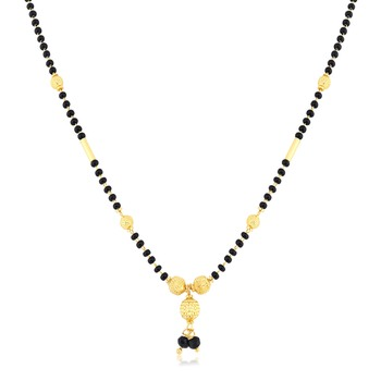 Yellow pearl mangalsutra