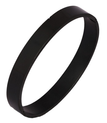 Surgical Stainless Steel Matte Black Oval Macho Kada Bracelet for Men