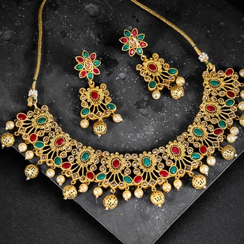 Green diamond necklace-sets