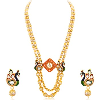 Multicolor pearl necklace-sets