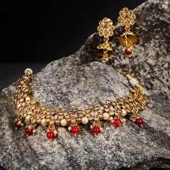 Red diamond necklace-sets
