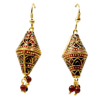 Ethnic Red And Black Ear Ring Mothers Day Gift