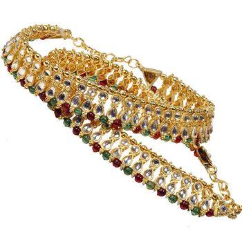 Designer Kundan Brass Payal For Mothers Day
