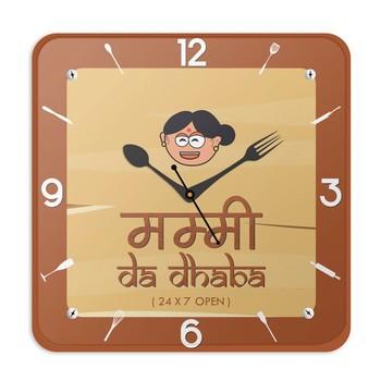 Mummy Da Dhabha Kitchen Wall Clock Mothers Gift