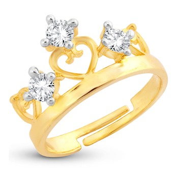 Yellow cubic zirconia rings