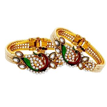 Multicolor diamond bangles-and-bracelets