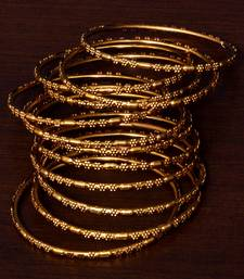 Gold Plated Set of 12 Designer Bangles BD385