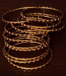 Gold Plated Set of 12 Designer Bangles BD386