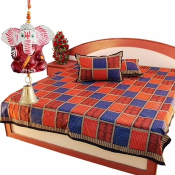 Rajasthani Double Bedsheet Set Mother Day Gift