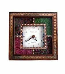 Real Gemstone Wall Clock Mothers Day Gift