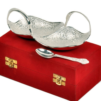 Silver Polish Brass Duck Shape Bowl Mothers Day