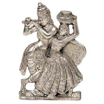 Lord Radha Krishna Antique Metal Idol Mothers Day
