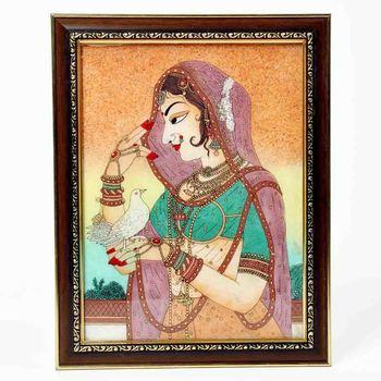 Cute Bani Thani Gemstone Painting Mothers Day