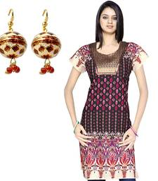 Buy Designer Brocade Cotton Kurti Mothers Day Gift gifts-for-mom online