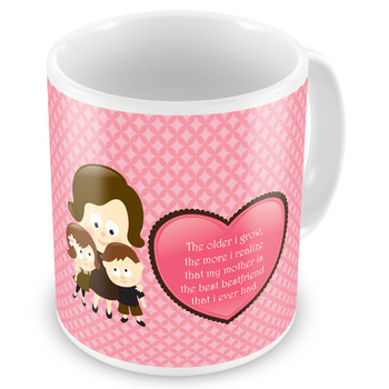 Mother Is The Best Friend Printed Coffee Mug Gift