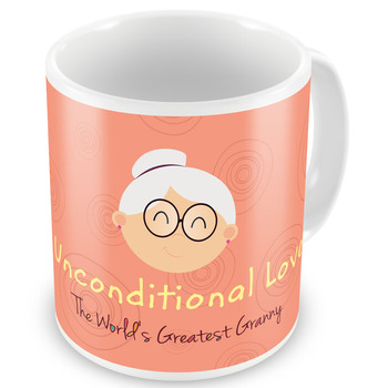 Unconditional Love Printed Coffee Mug For Grandma