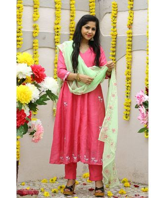 Cotton Silk  Banglori Suit Set