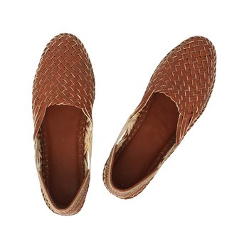 Tan  leather shoe women